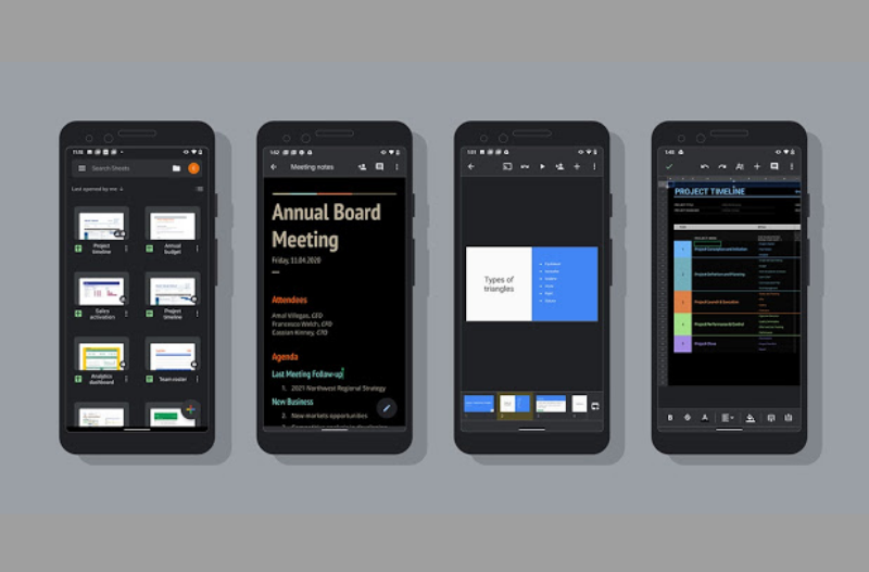 Google Turns Out Dark Mode on G Suite Applications.