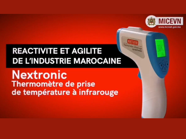 Moroccan startup, Nextronic produces its Infrared Thermometer.