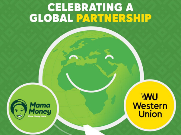 Mama Money partners Western Union to allow customers transfer money across the world.