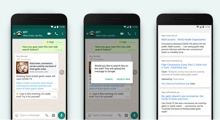 WhatsApp Rolls Out a New Feature That Allows Users To Check Accuracy Of Forwarded Messages.
