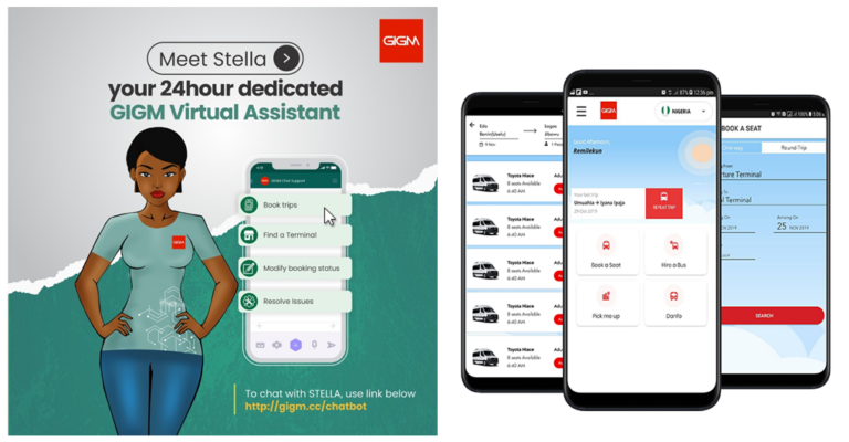 GIGM launches Stella, Nigeria's first 24hour mobility virtual assistant